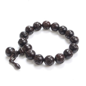 Lightning Wood Buddhism Prayer Beads - Witchie Woo
