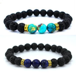 Women Men Lava Stone Buddha Beads Bracelets Rope Chain Tibet Lucky Bracelets - Witchie Woo