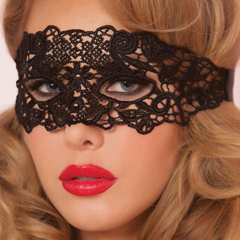Lace Venetian Eye Mask For Masquerade Ball Halloween Cosplay - Witchie Woo