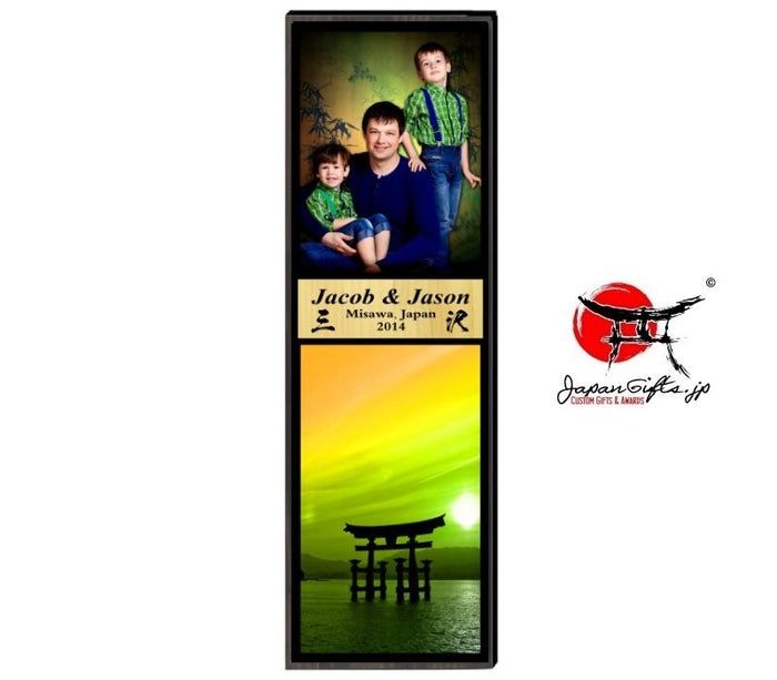 "23"" x 7"" Photo Vertical Plaque #8"