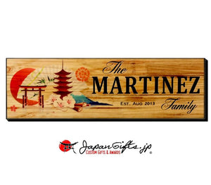 "23"" x 7"" Name Sign ""Fuji/Fan"" #2"