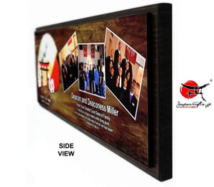 "(LARGE) 23"" x 7"" Three Photo Plaque #PP-H237-301"