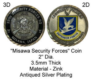 "2"" Dia. ""Misawa - 35th Security Forces"" Challenge Coin"
