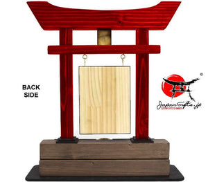 "(LARGE) Torii Gate, w/Burned Top Plate & Coin ""CUSTOMIZED"""