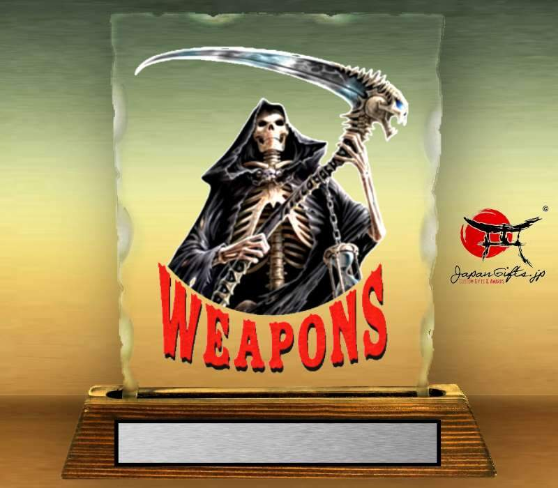 "7"" x 9"" Chipped Crystal Full Color Plaque ""Weapons - Reaper"" #7"