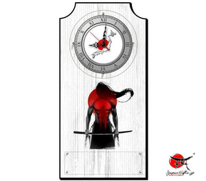 "Vertical Clock ""Samuari"" #8"