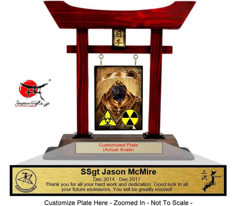 "(LARGE) 14"" Torii Gate RED ""35th CES - WMD training"" #44"