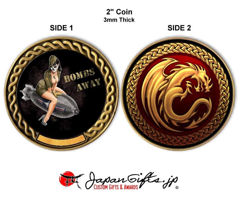 "2"" dia. Custom Color Imprinted Coin ""Dragon-Bomber Girl"" #31"