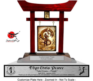 "(LARGE) 14"" Torii Gate ""CUSTOMIZED"" PEARCE"