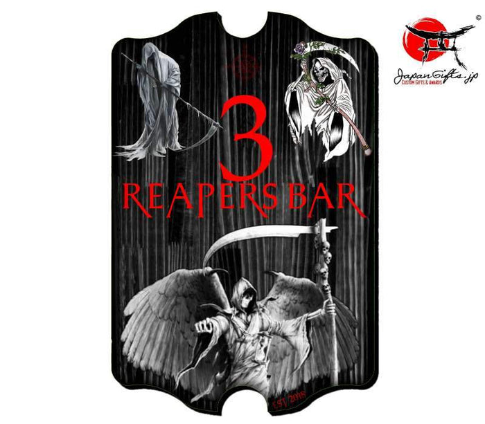 "(LARGE) 23"" x 15"" Bar Sign ""Reapers Bar 3"" #5997"
