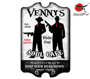 "(LARGE) 23"" x 15"" Bar Sign ""Soul Cafe / Mafia"" #6022"