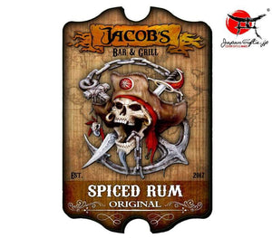"(LARGE) 23"" x 15"" Bar Sign ""Piced Rum - Pirate"" #6029"