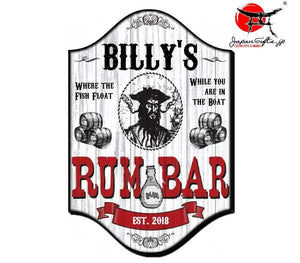 "(LARGE) 23"" x 15"" Bar Sign ""RUM-BAR Pirate"" #6031"