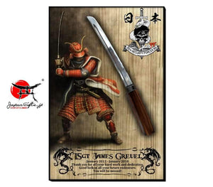 "23""H x 15""W Sword Wall Plaque ""CUSTOMIZED"""