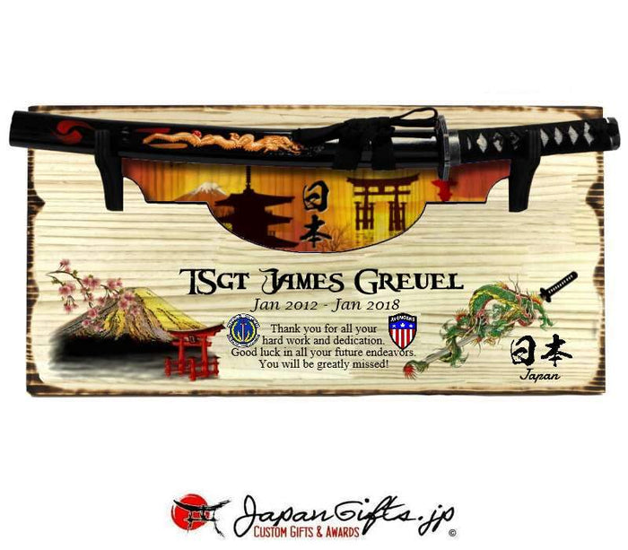"Small Sword 23"" x 11"" Wall Plaque ""CUSTOMIZED"""