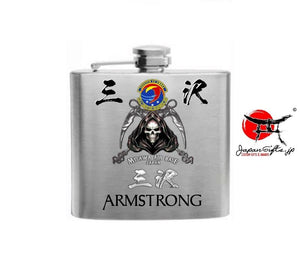 "(SMALL) 5oz Metal Hip Flask ""CUSTOMIZED"" No Box"