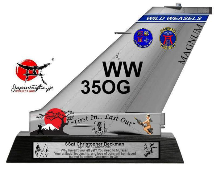 "9"" Small (Thin 2mm, Acrylic) F-16 Tail ""CUSTOMIZED"""