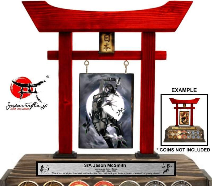 "(LARGE) Torii Gate w/Coin Rack ""CUSTOMIZED"" - Fits 22qty Coins 2"" -"