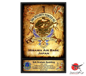 "(LARGE) 9"" x 13"" Thin Wall Plaque ""35th SFS / Charlie Flight - Misawa"" #555"