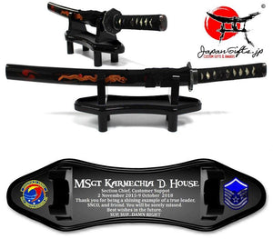 "Small Desk Sword Color Imprinted ""CUSTOMIZED"" #1"