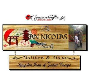 "23"" x 7"" Family Sign w/Drop Down ""CUSTOMIZED"""
