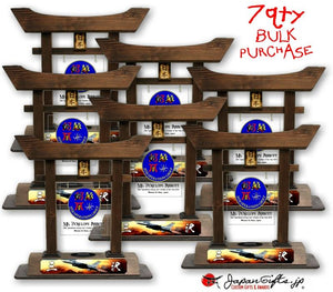 "7qty (LARGE) Torii Gate ""35th OG - Annuals"" Brown w/color Plate and Clear Acrylic #1"