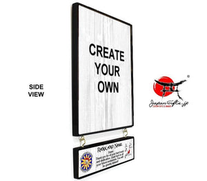 "9"" x 15"" Hanging Wall Plaque w/Attachment #WP-V915-WA02"