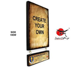 "9"" x 15"" Hanging Wall Plaque w/Attachment #WP-V915-WA01"