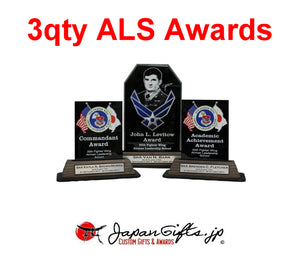 "Crystal Awards ""Misawa ALS awards"" - 3qty Set"