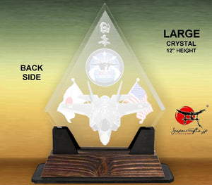 "(LARGE) 9"" x 12"" Clear Crystal Diamond Desk Plaque #CC-DMD912-01"