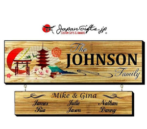 "23"" x 7"" Family Sign w/Drop Down #27"