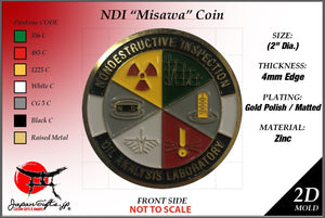 "2"" Dia. NDI Coin ""Misawa"" 50qty ""CUSTOMIZED"""