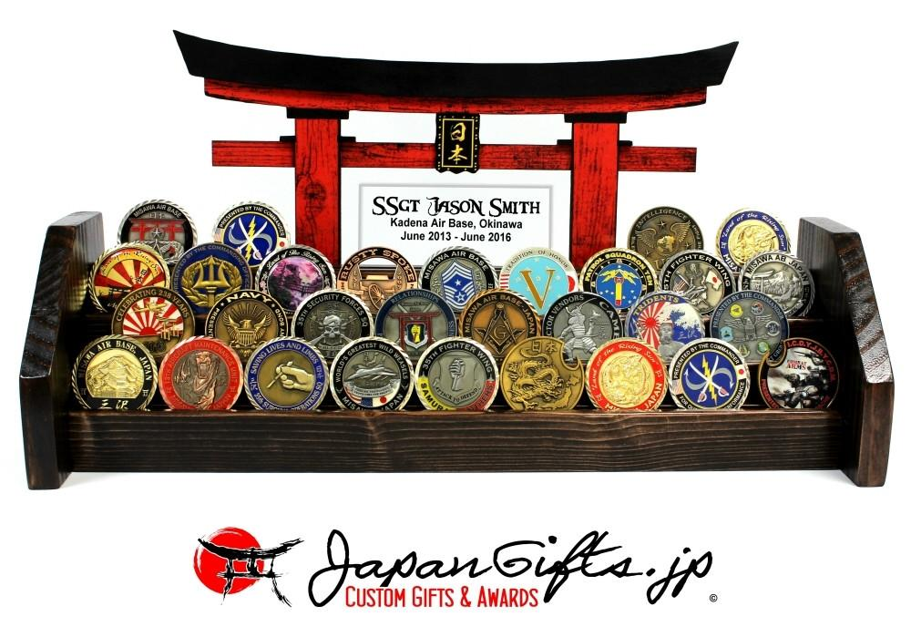 "18""W Large Coin Rack with Torii Gate w/Acrylic"