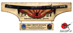 Medium Sword Wall Plaque, w/Customized Hanging Attachment, removeable sword
