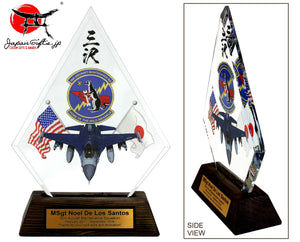"(SMALL) 10""H Crystal Clear Diamond ""Jet/35th AMXS"" #74821"