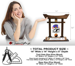 "(LARGE) 14"" Torii w/Acrylic Center/Coin Holder #T-L010-AC"