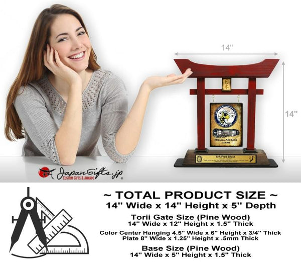 "(LARGE) 14"" Torii Gate RED ""Queen Bee"" #5870"