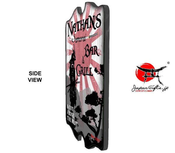 "(LARGE) 23"" x 15"" Bar Sign ""Samurai Bar & Grill"" #6060"