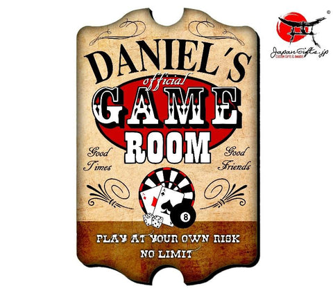 "Large 23"" x 15"" Bar Sign ""Game Room"" #42"