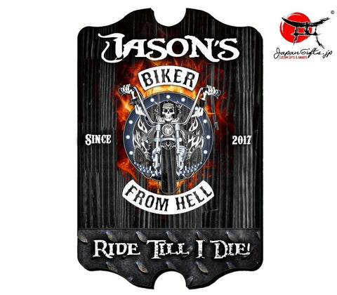 "Large 23"" x 15"" Bar Sign ""Biker"" #1"