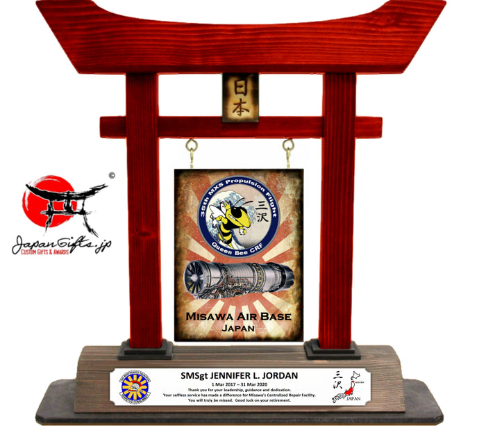 "14"" Large RED Torii Gate ""CUSTOMIZED"" Queen Bee"
