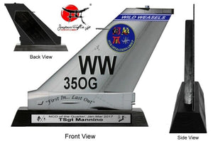 "11"" Large (Thin 2mm, Acrylic) F-16 Tail ""CUSTOMIZED"" TEST#54"
