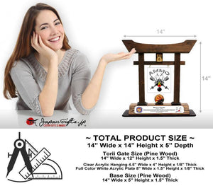 "(LARGE) 14"" Torii w/Acrylic Center/Coin Holder #T-L017-AC"
