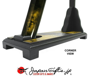"(MEDIUM) GOLD - 27"" Standing Desk Sword Full Color Base #DS-M037-STA"