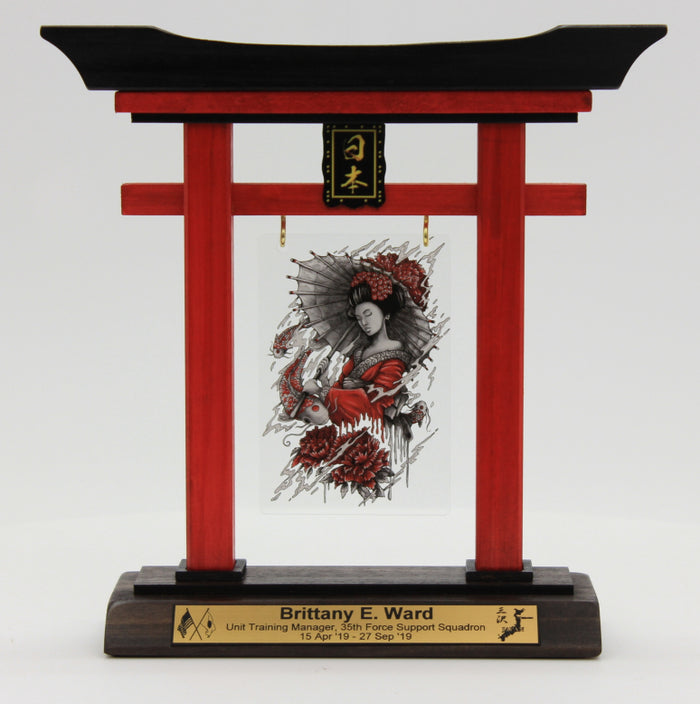 "(Mini) 9"" Tall Torii Gate ""35th MDG Squadron Awards"" Quarterly"
