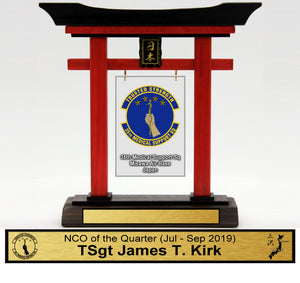 "(Mini) 9"" Tall Torii Gate ""35th MDSS Awards"" Quarterly"