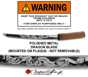 "Small Sword 23"" x 11"" Plaque - No Sheath - ""Mounted"" #SW-S018-M"