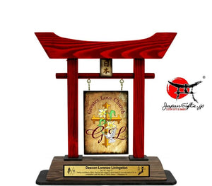 "(Small) 12"" Torii Gate RED ""Greater Love"" #10"