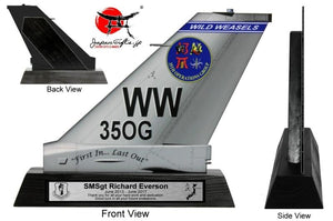 "9"" Small (Thin 2mm, Acrylic) F-16 Tail ""35th OG"" Quarterly Awards"