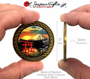 "2"" dia. Custom Color Imprinted Coin"
